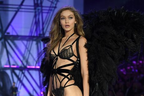 cozy vibe celebrities gigi hadid runway