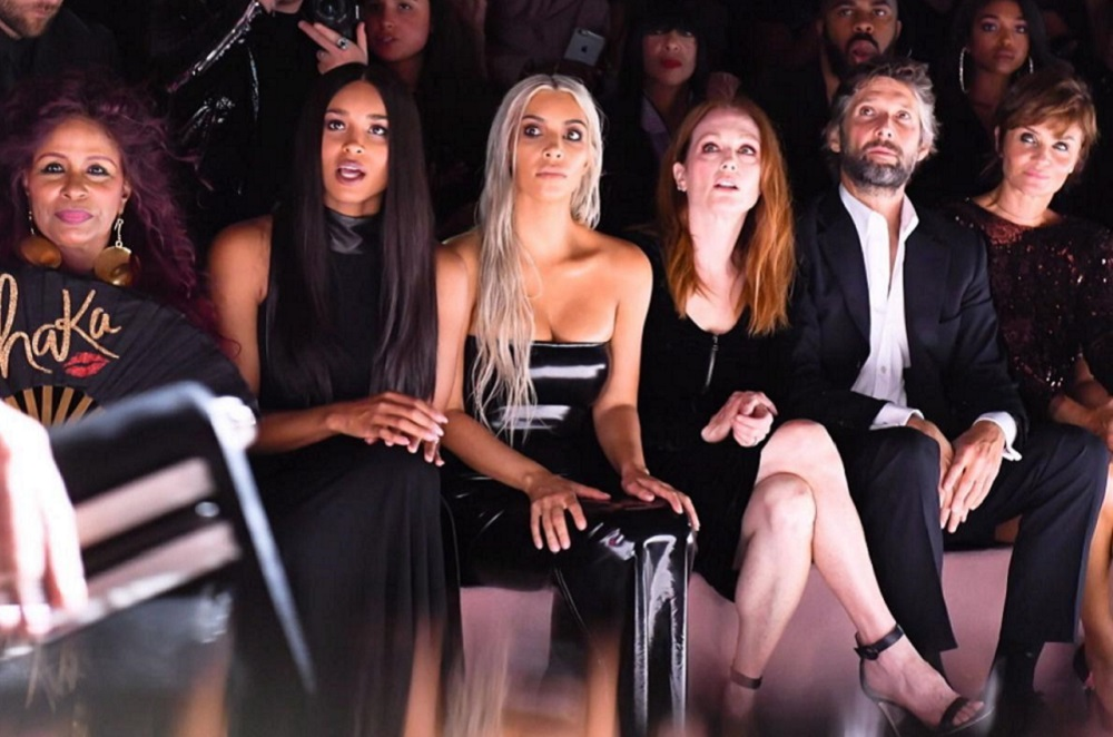 cozy vibe celebrities Tom Ford front row