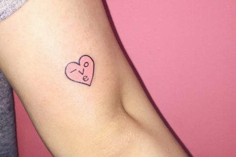 cozy vibe fairytales heart tattoo