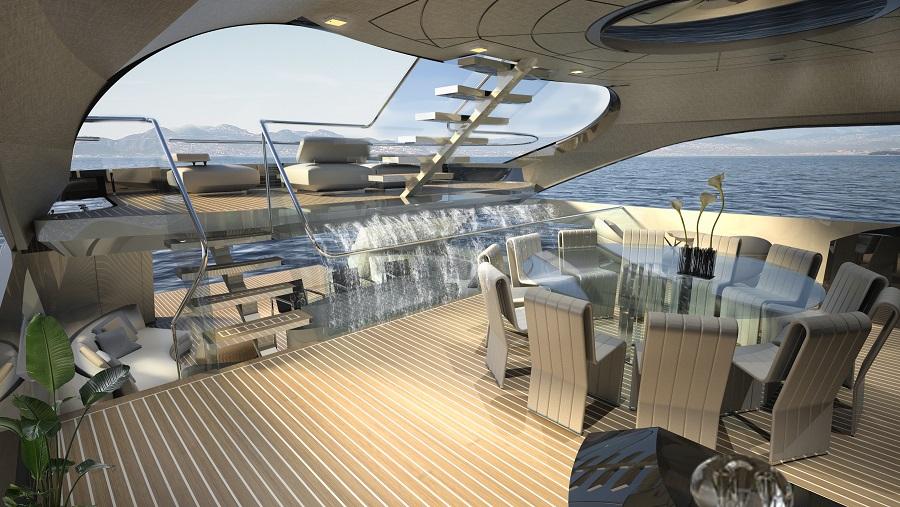 To σπορ και πολυτελές yacht Infinity