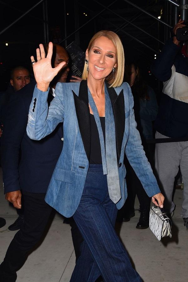 H Celine Dion με ένα denim look που εντυπωσιάζει