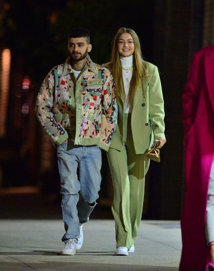 Το casual-chic πράσινο κοστούμι της Gigi Hadid