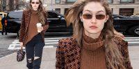 H Gigi Hadid ξέρει πως να συνδυάζει το printed blazer
