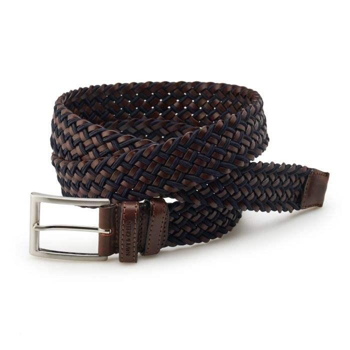 navy green man belt