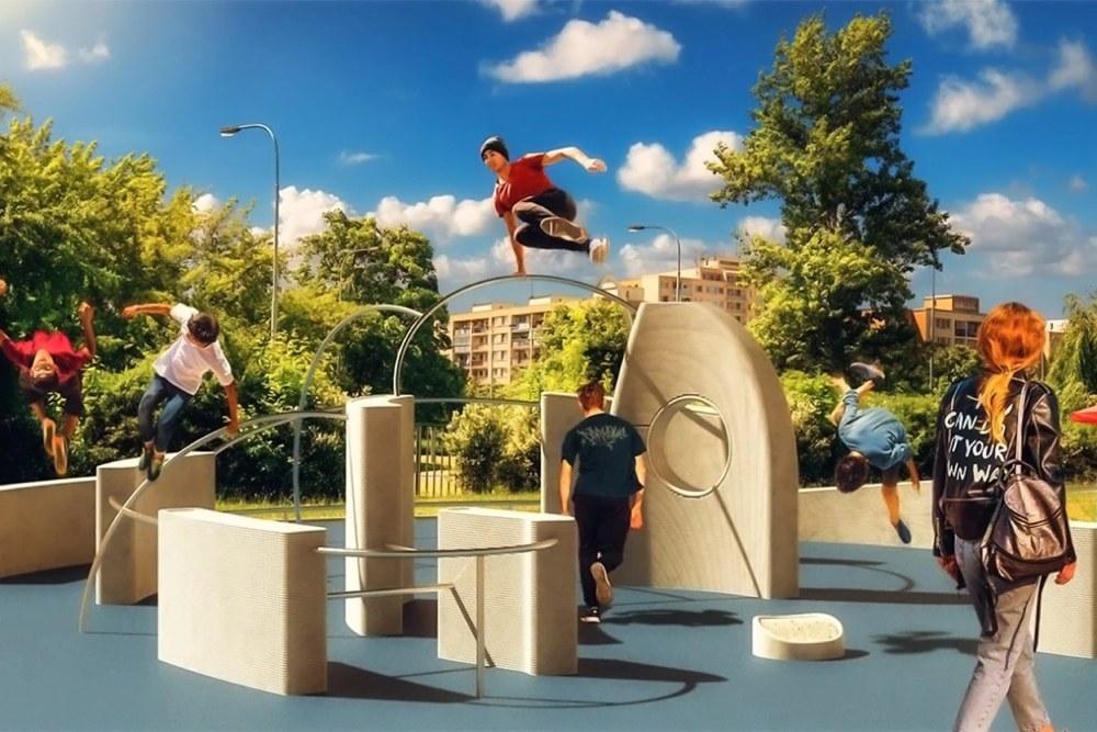 3D printed parkour park